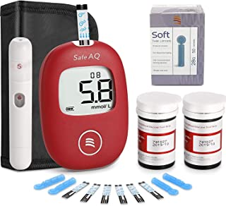 Diabetes Test Kit with 50 Strips Included Pain Free Lancing Device,Mmol/L