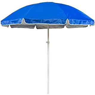 6.5` Portable Beach and Sports Umbrella by Trademark Innovations (Blue)