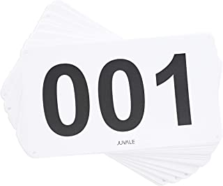 Juvale 500-Count Racing Number Marathon Race Bibs, Running Numbers 001-500, 4 x 7 Inches