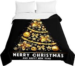 Chickwin Boże Narodzenie pikowana narzuta na łóżko, nadruk 3D pikowane narzuty z mikrofibry wytłaczane pokrowce na jesień ...