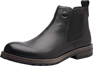 Blaize Men's Boots, Chelsea Boots, Ankle Dress Boot for Men, Formal Genuine Leather Plain Toe Chelsea Boots for Men with Leather Slip-on