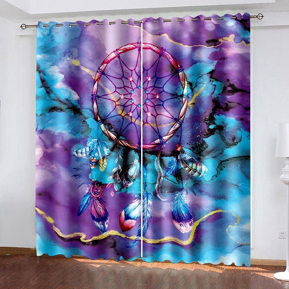 Kids Blackout Columbus Mall Curtain Austin Mall Dreamcatcher Curtains Printed 3D