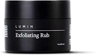 Lumin Exfoliating Rub for Men (1 oz) - Activated Charcoal Face Exfoliator Rub for Reducing Dullness, Dryness, Dark Spots, Blackheads, and Shaving Irritation - Achieve Your Best Look with Lumin
