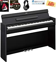 Yamaha Arius YDP-S54 Weighted Action Console Digital Piano - Black Walnut Bundle with Headphones, Instructional Book, Online Lessons, Austin Bazaar Instructional DVD, and Polishing Cloth