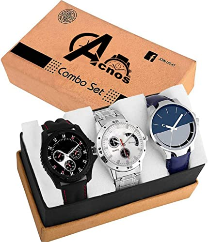 Acnos Special Super Quality Analog Watches Combo Look Like Handsome for Boys and Mens Pack of 3 436 437 24
