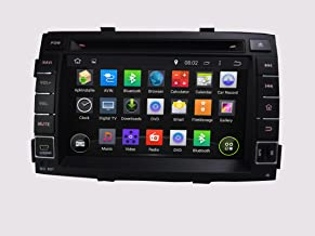 KUNFINE Android 8.0 Otca Core Car DVD GPS Navigation Multimedia Player Car Stereo for KIA Sorento 2011 Radio Head Unit Steering Wheel Control with 3G WiFi Bluetooth Free Map Update 7 Inch