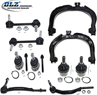 DLZ 10 Pcs Suspension Kit-Front Upper Control Arm Ball Joint Outer Tie Rod End Rear Sway Bar Compatible with Chevy Trailblazer 02-07 Replacement for GMC Envoy 02-07 Compatible with Buick Rainier 04-07