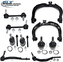 DLZ 10 Pcs Suspension Kit-Front Upper Control Arm Ball Joint Outer Tie Rod End Rear Sway Bar Compatible with 2002-2007 Chevrolet Trailblazer GMC Envoy 2004-2007 Buick Rainier 2003-2007 Isuzu Ascender