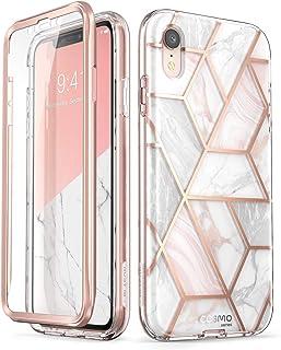 i-Blason Cosmo Full-Body Glitter Bumper Case for iPhone XR 2018 Release, Marble, 6.1
