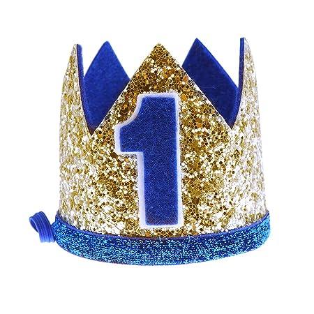 Nuobesty Geburtstag Krone Baby Junge Blume Prinzessin Tiara Stirnband Geburtstagsparty Haarbänder Haarschmuck Für 1 Geburtstag Baby Shower Party Supplies Beauty