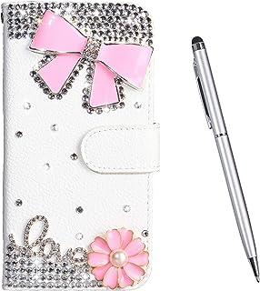 TOUCASA Cover per Nokia 6, [Serie Diamante] PU Pelle Portafoglio Unico Sottile Funzione TPU Antiurto Flip Cover a Libro Cu...
