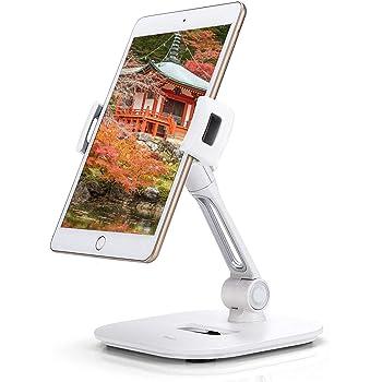 ZenCT iPadタブレットPCスタンド アルミ製 携帯スタンド 360°回転できる iPad Air 2 /iPad mini 4 対応(ホワイト)