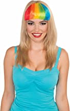 Forum Novelties Multi-Color Retro Rainbow Pride Punk Costume Bangs Hair Extension Clips ,Red / Blue / Yellow ,Standard Size
