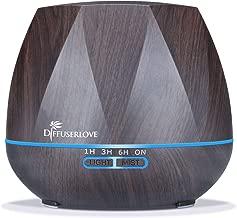 Diffuserlove Ultrasonic Cool Mist Essential Oil Diffuser 550ml Dark Wood Grain..