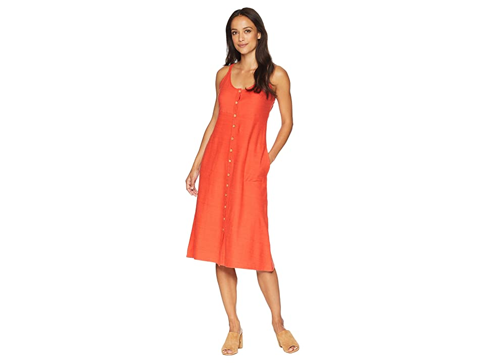 Lucky Brand Button Up Knit Dress (Clay Red) Women