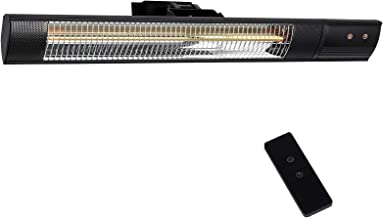 Star Patio Electric Patio Heater, Outdoor Wall Mounted Heater, Infrared Heater with Remote, Instant Heating1500W, IP55 Wat...