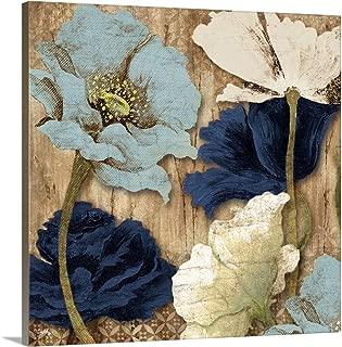 Blue Joyful Poppies II Canvas Wall Art Print, 24