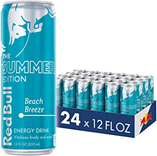 Red Bull Summer Edition Energy Drink, Beach Breeze, 12 Fl Oz (24 Count)