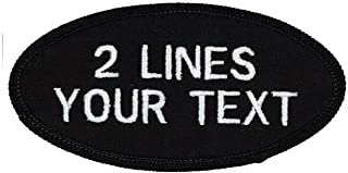 2 Line Oval Name Patch Uniform-Work Shirt Custom Embroidered-Multiple Styles 2x4 in.
