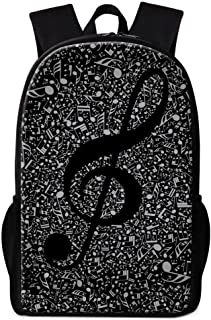 Pretty Music Note Print School Backpack for Children Girls Stylish Art Bookbags