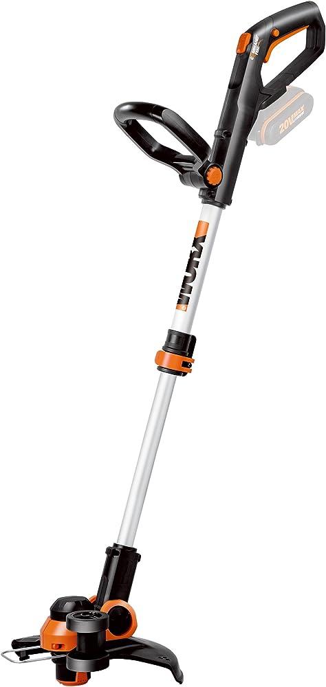 WORX WG163E.9 Batería Negro, Metálico, Naranja cortabordes y desbrozadora - Cortacésped (String trimmer, Nylon line, D-loop handle, 1,65 mm, 3 m, Negro, Metálico, Naranja)