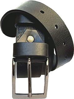 ELETTI Cintura Uomo In VERA PELLE 100% MADE IN ITALY Marrone Nera Rossa Elegante Casual Resistente Idea Regalo Taglia Unic...