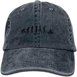 Gorra de béisbol Unisex Sombrero de Mezclilla de algodón Evolution Yoga Gorra Ajustable para Deportes al Aire Libre Snapback Net Rojo 7348