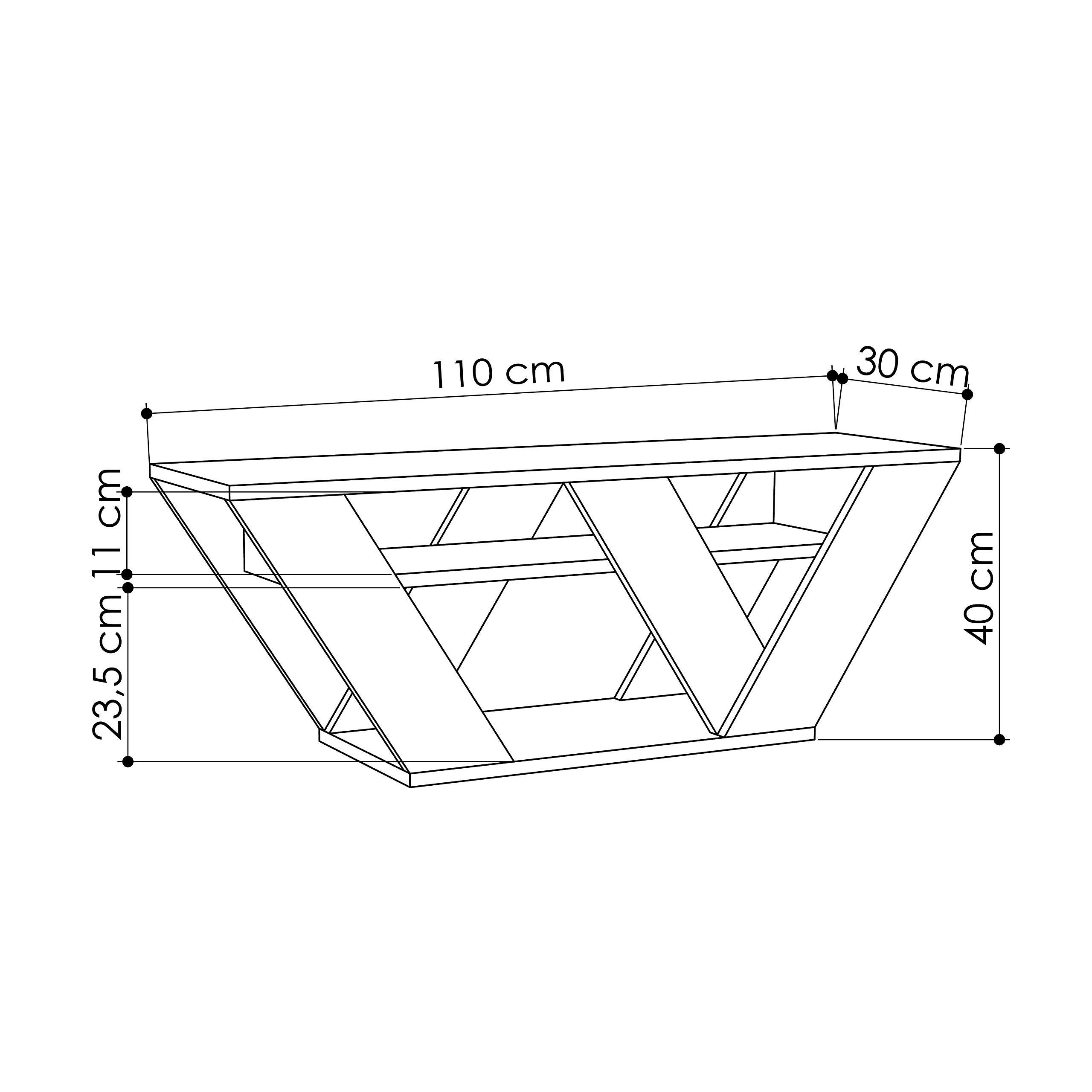 Hocuspicus - Soporte para televisor (110 x 30 x 40 cm, fácil de Montar y Limpiar) Roble: Amazon.es: Electrónica