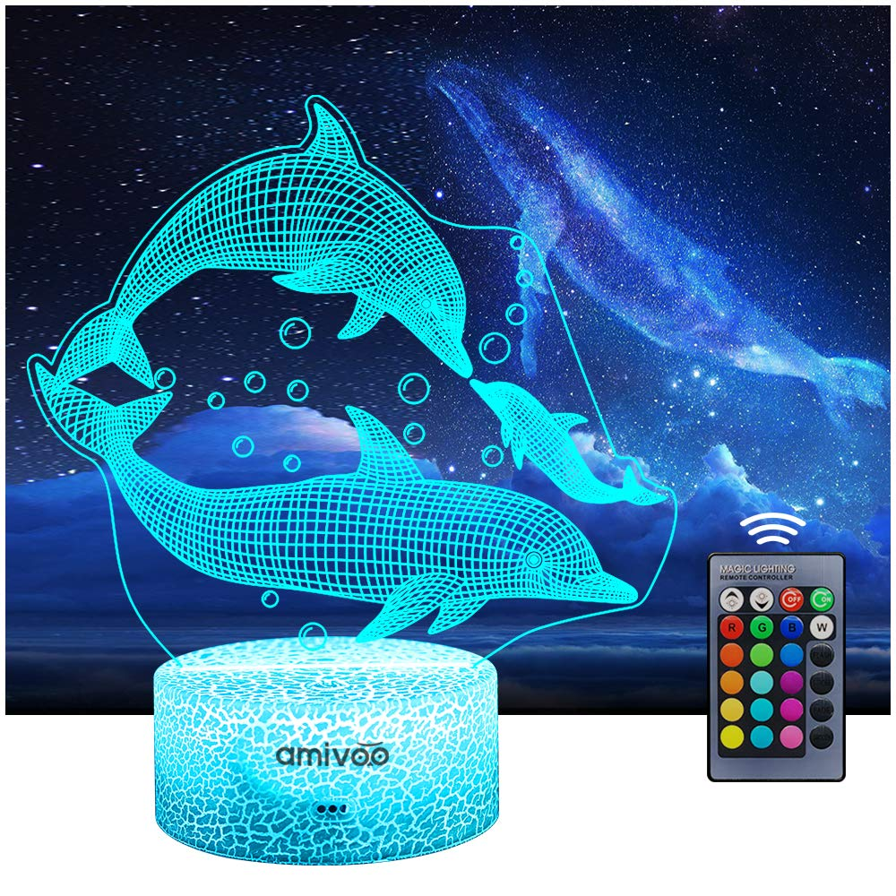 AMIVOO 3D Illusion 5 Philadelphia Mall ☆ popular Lamp 16 Colors Bedside Changing Dimmable