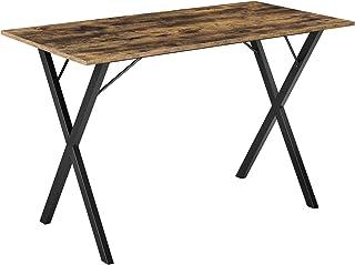 [en.casa] Table Stylée pour 4 Personnes Table Design pour Salle à Manger Cuisine Salon Panneau de Particules Mélaminé Fer ...