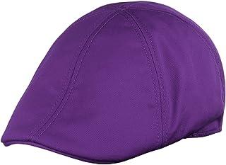 da1de4da471 NYFASHION101 Fashionable Solid Color Unisex Cotton Duck Bill Newsboy Ivy Cap