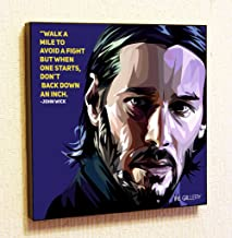 John Wick Keanu Reeves Framed Poster Pop Art for Decor with Motivational Quotes Printed (10x10