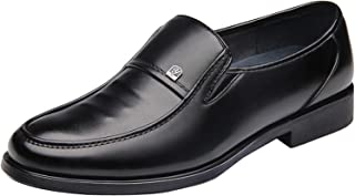 Gaorui Men's Comfort Leather Loafers Driving Shoe Business Formal Oxford Slip On Moccasin