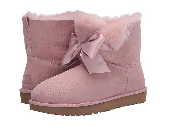 UGG  Gita Bow Mini Boot (Pink Crystal) Womens Pull-on Boots