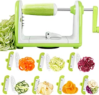 Sedhoom Spiralizer, 7 Lames Spiraliseur Coupe-légumes Spirale Végétale Courgette Pâtes et Nouilles Spaghetti Spiralizer de...