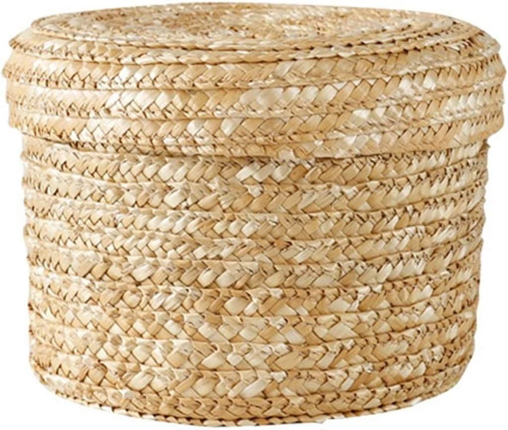 Electric oven Hand-Woven Round Debris C Oakland Mall Detroit Mall Basket with Storage Lid