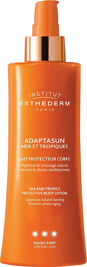 鎮静剤砲撃陰謀Institut Esthederm Protective Body Lotion Strong Sun 200ml