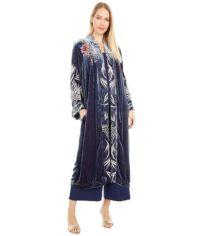 1920s Coats, Flapper Coats, 20s Jackets Johnny Was Kasumi Velvet Kimono Coat Ruby Shade Womens Clothing $365.00 AT vintagedancer.com
