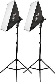 Fovitec - 2-Light 2000W Fluorescent Lighting Kit for Photo & Video with 20