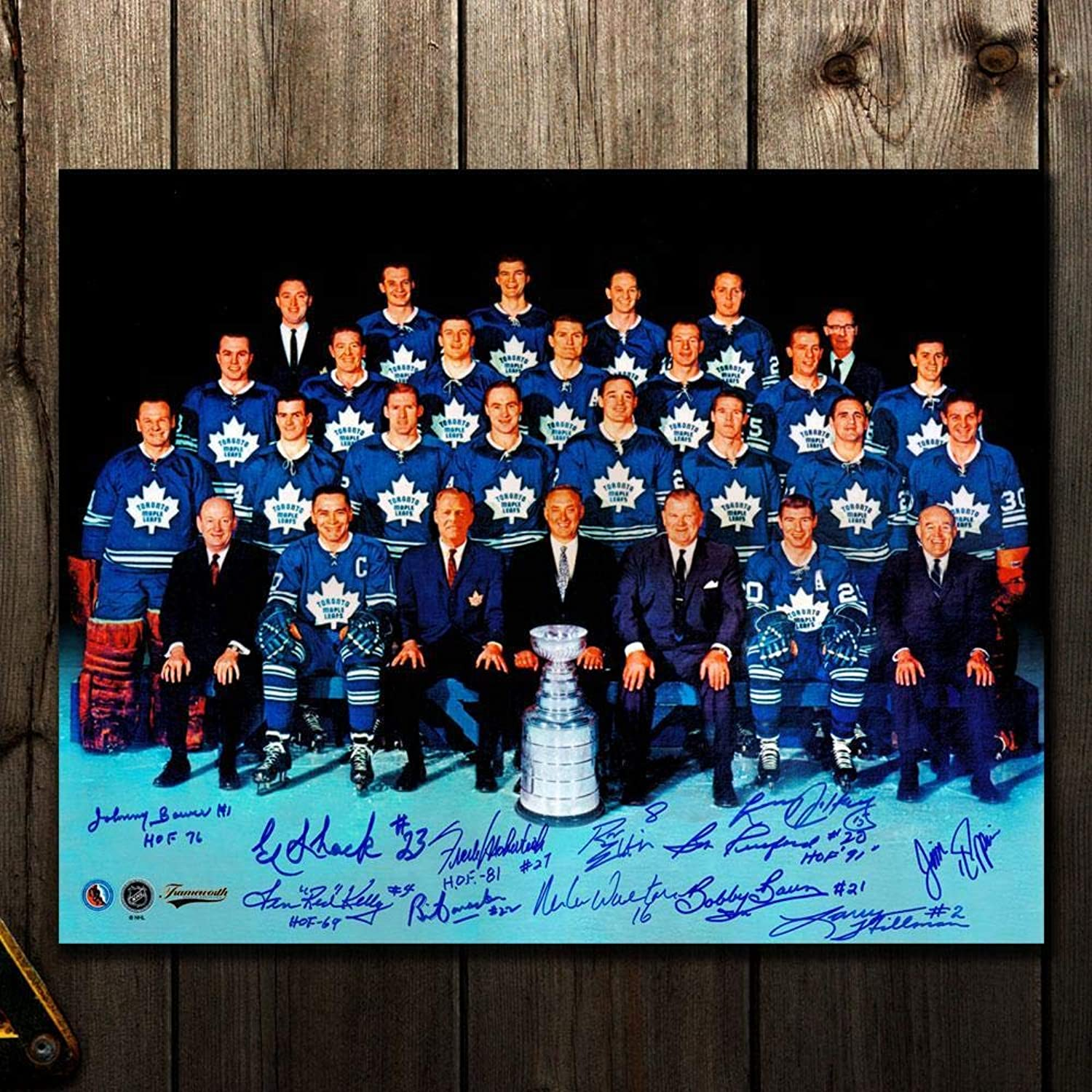 Tgoldnto Maple Leafs 1967 Stanley Cup Champions Autographed 16x20 Signed by 12  Autographed NHL Photos