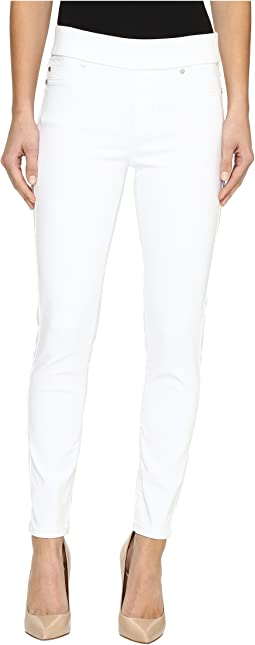 Sienna Pull-On Ankle Slub Stretch Twill in Bright White