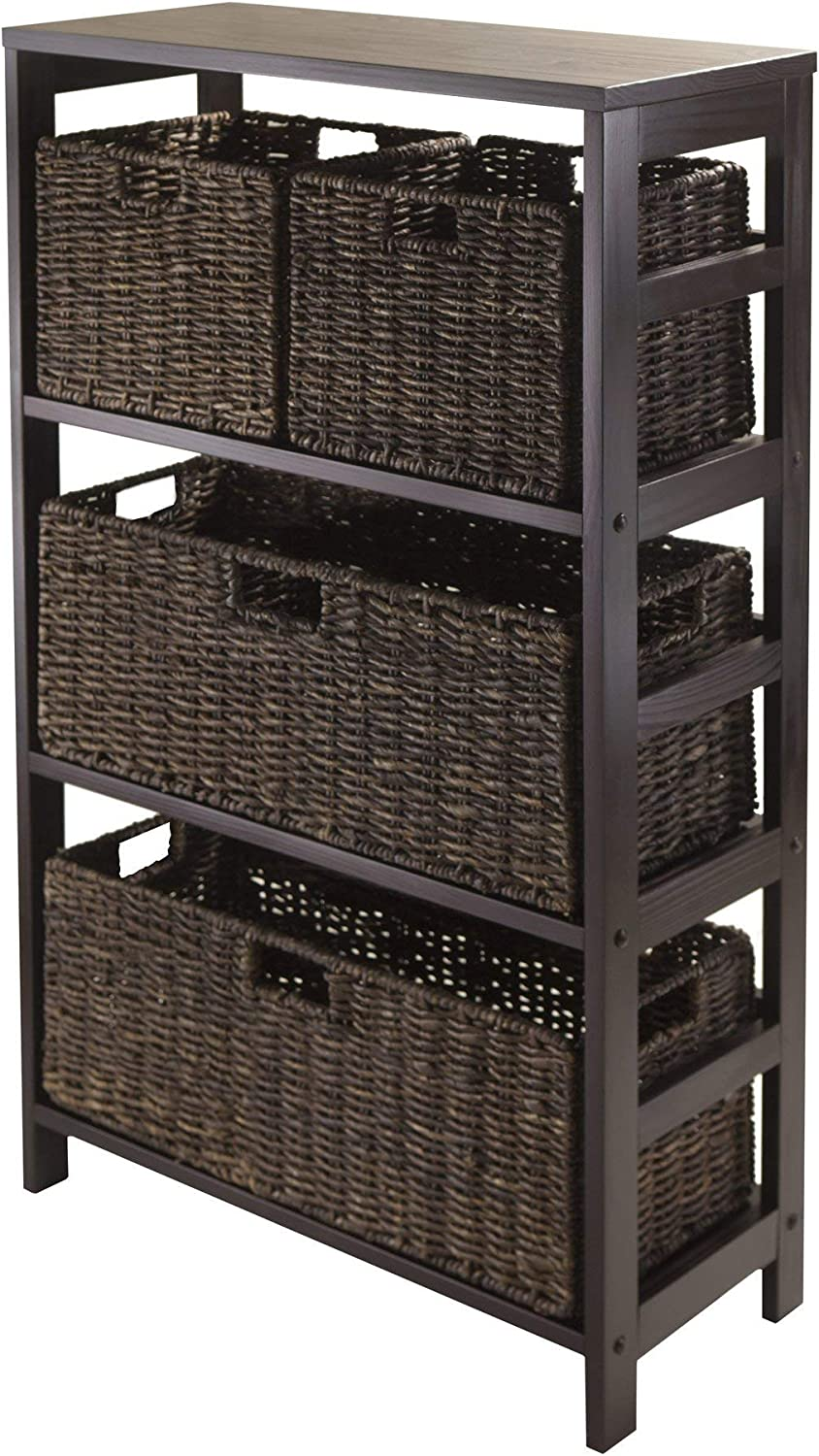Winsome Granville 5-Piece Super intense SALE Storage Shelf 2 Small Bombing new work Large with and
