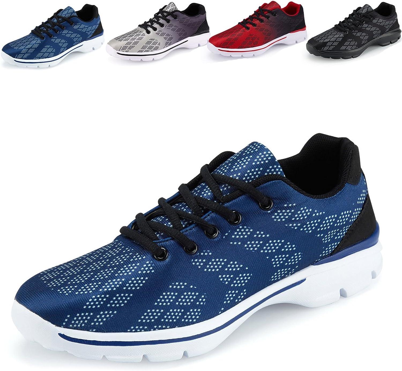Men's Lightweight Breathable Running Tennis Sneakers Casual Walking shoes (US 7.5 EU 40 blueee)