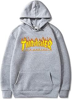 Unisex Thrasher Flame Pullover Hoodie Casual Loose Long Sleeve Sweatshirt