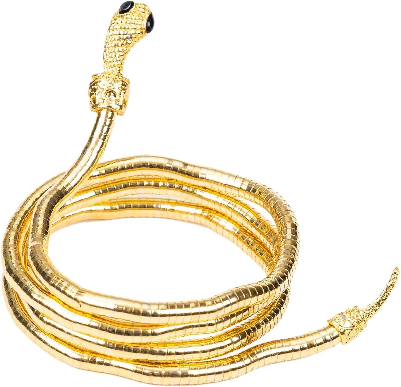 HOPEANT Flexible Bendable Snake Bracelet Wrap Bangle Twistable Adjustable Neck Collar Choker Necklace Waistband