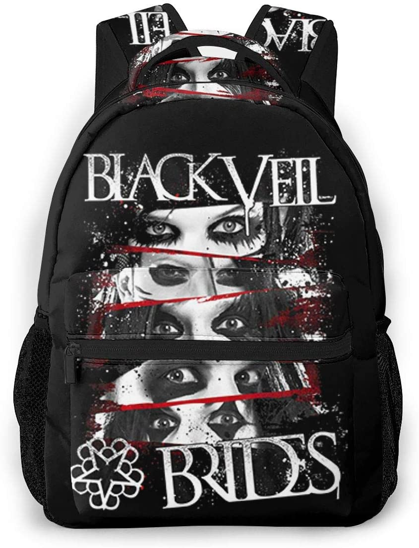 Black Veil High material Brides Cool 35% OFF Backpack Hiking School Travel Bags Laptop