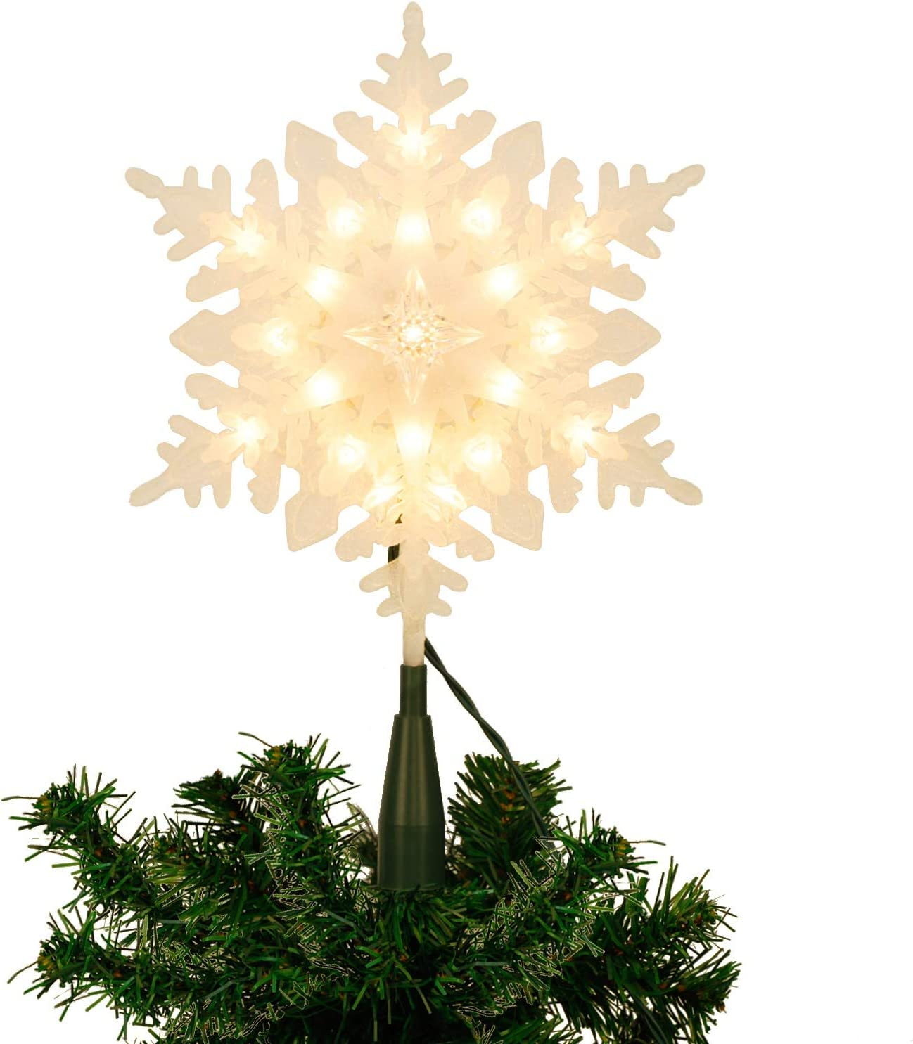 Juegoal Snowflake Brand new Christmas Tree Topper Incandescent 20 Ranking TOP16 War with