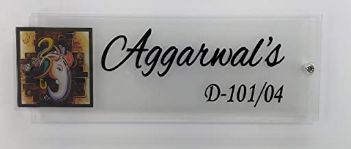 Sangam Ad Trans Print Aggarwal's Clear Shine Acrylic Vinyl Sticker Letters Door Nameplate 12X4X.15