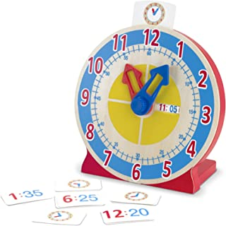 Melissa & Doug Turn & Tell Wooden Clock (Educational Toy, 13 Reversible Time Cards, Great Gift for Girls and Boys - Best for 4, 5, 6, and 7 Year Olds)