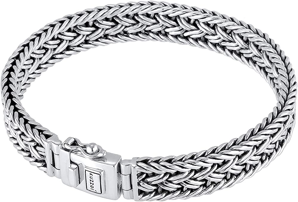 Kuzzoi,bracciale da uomo in argento sterling 9258(38 gr), massiccio 0210480118_21
